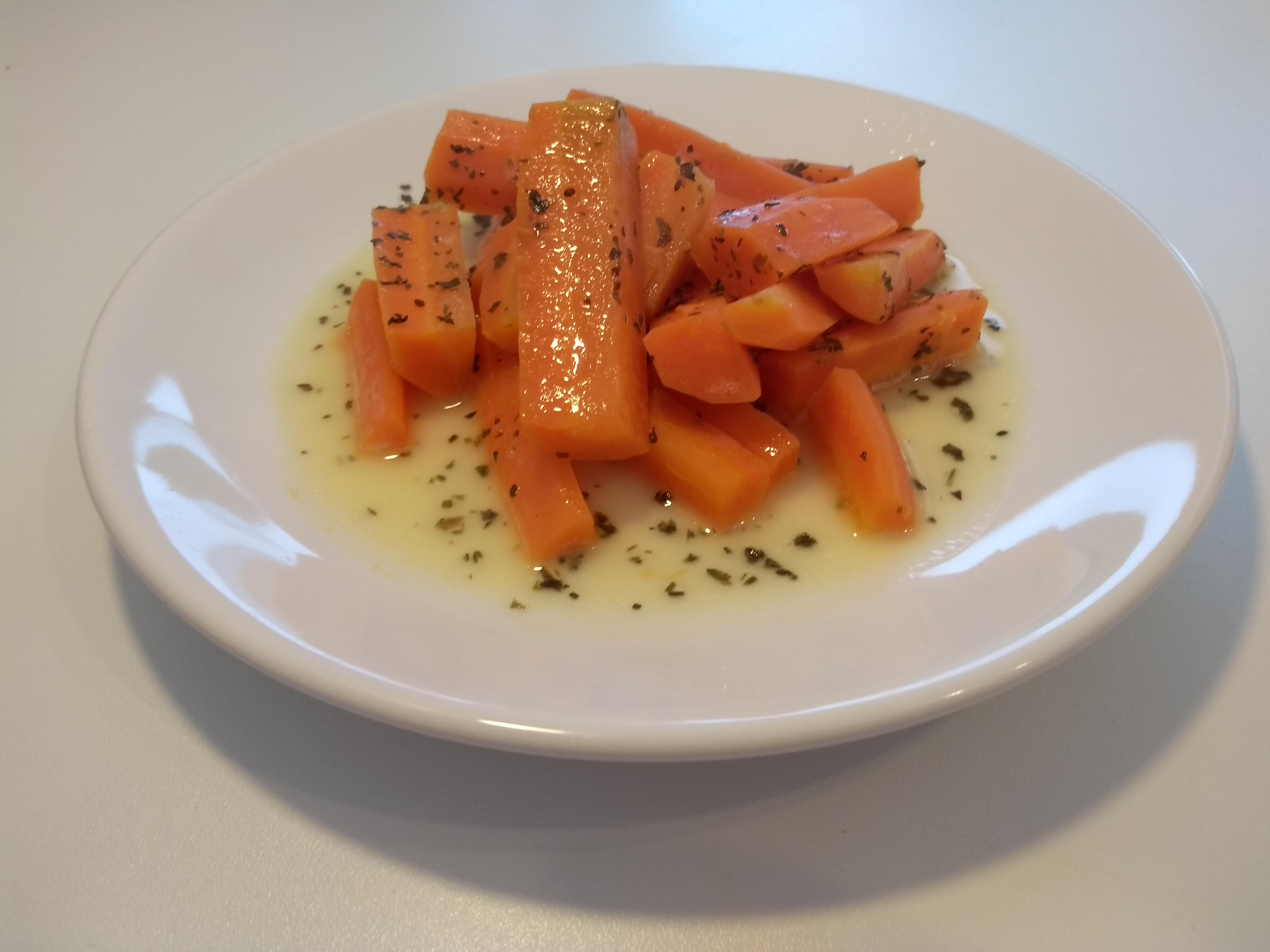 Blanšírovaná mrkva